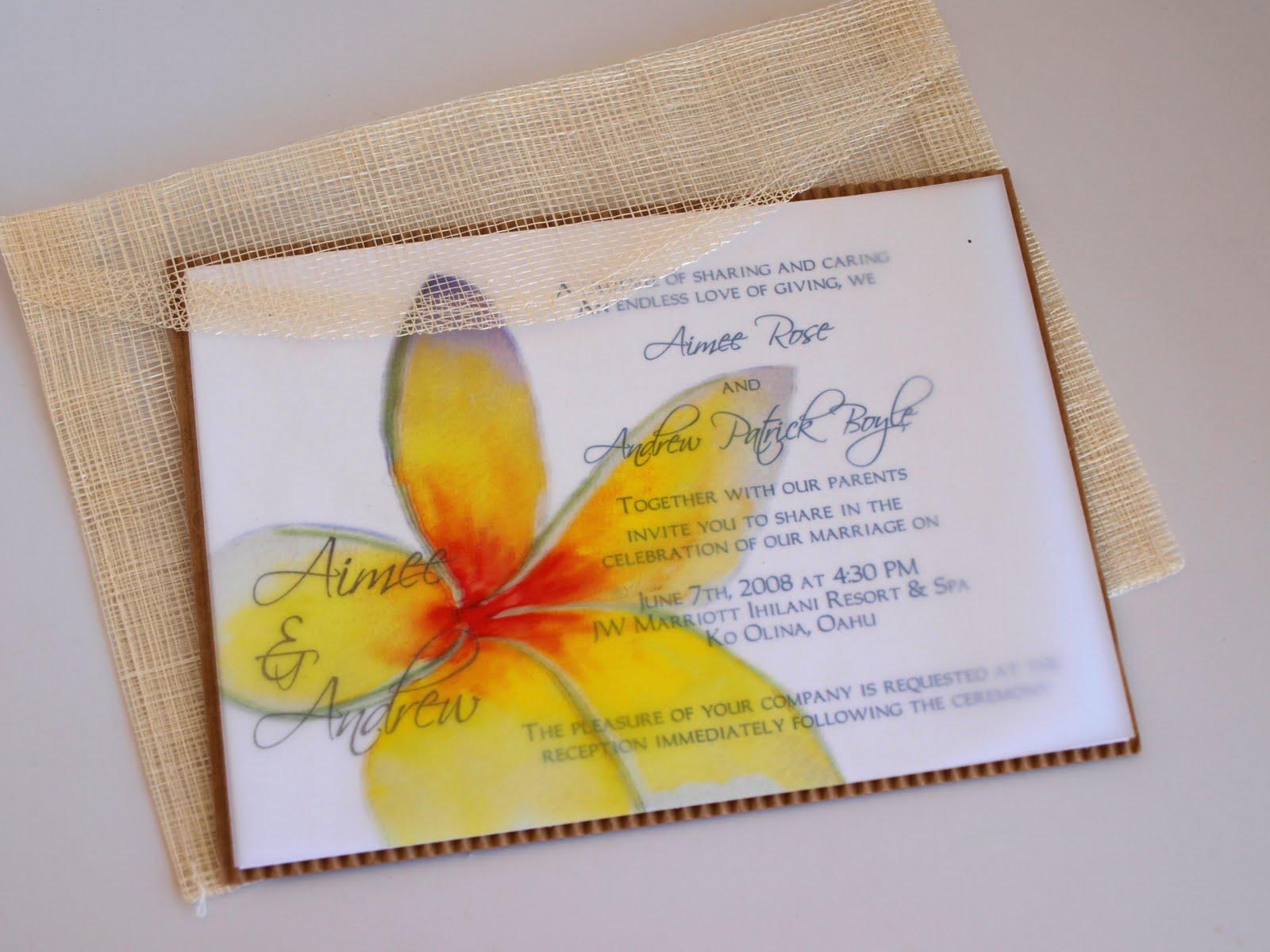 Eco Friendly Market Hawaiian Wedding Invitation With