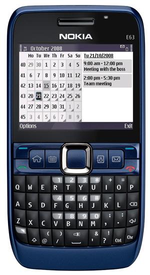 Nokia E63 Blue Nokia E63 - Aplicacion...