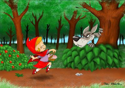 Resultado de imagen para caperucita y el lobo feroz