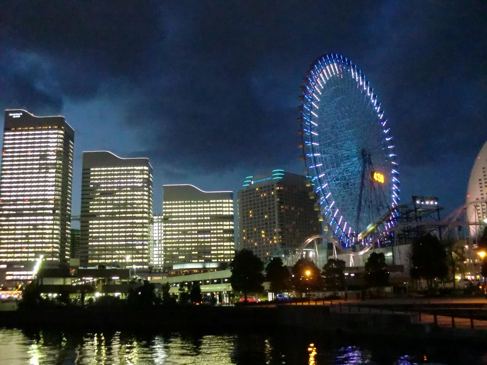 Odaiba ferris wheel in the Palette town region of Tokyo