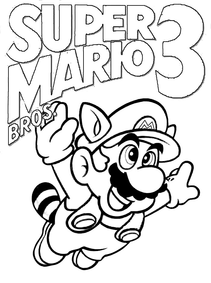 Coloring Pages for everyone: Super Mario Bros