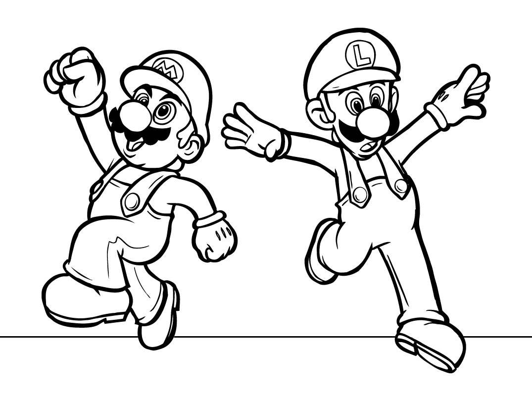 coloring pages for everyone super mario bros