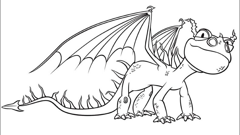 Coloring pages for everyone how to train your dragon for How to train your dragon coloring page