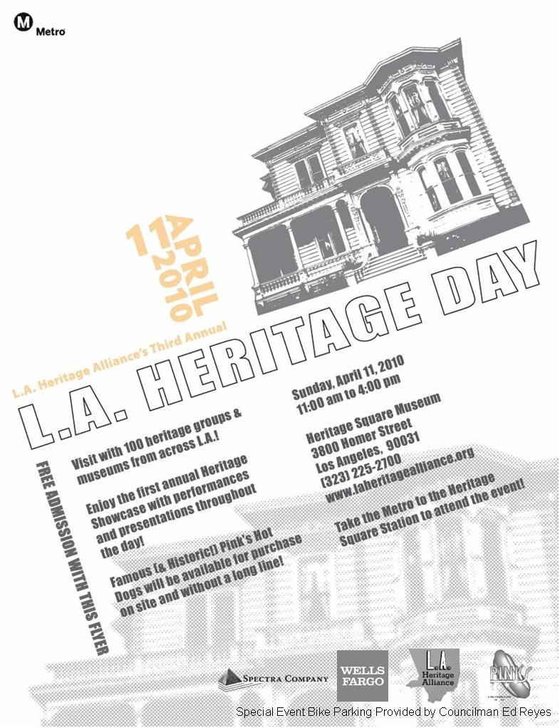L.A. Heritage Day flier