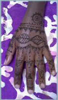henna tattoo tribal style