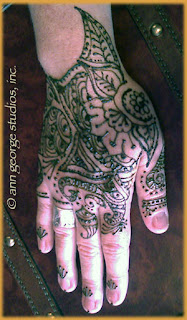 henna tattoo pattern for back of hand