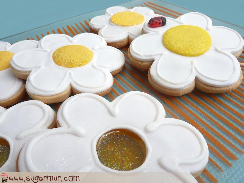 Margaritas De Colores En La Hierba 30995: Galletas Margaritas