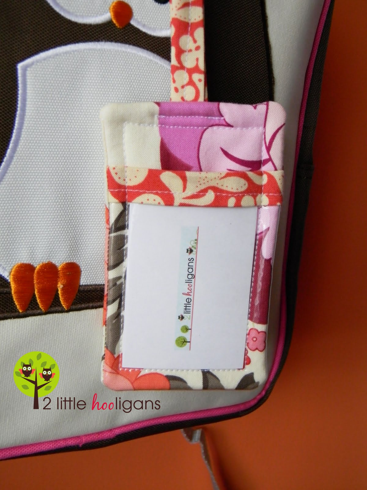 Diy Fat Quarter Projects 2 Little Hooligans Fat Quarter Friday Fabric Luggage Tag
