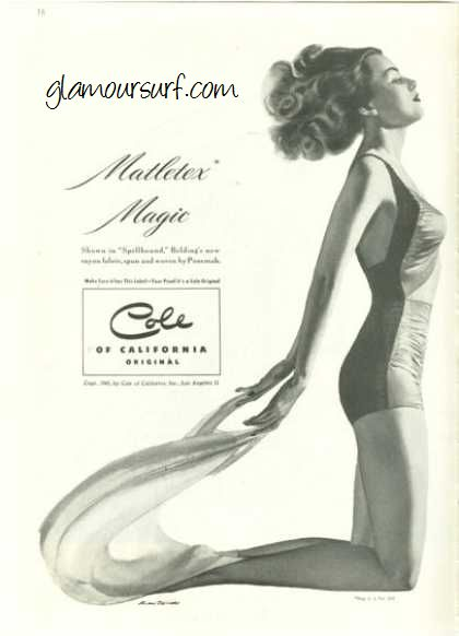 43712024a00 Glamoursplash: Cole of California Swimwear Advertising in the 1940s ...