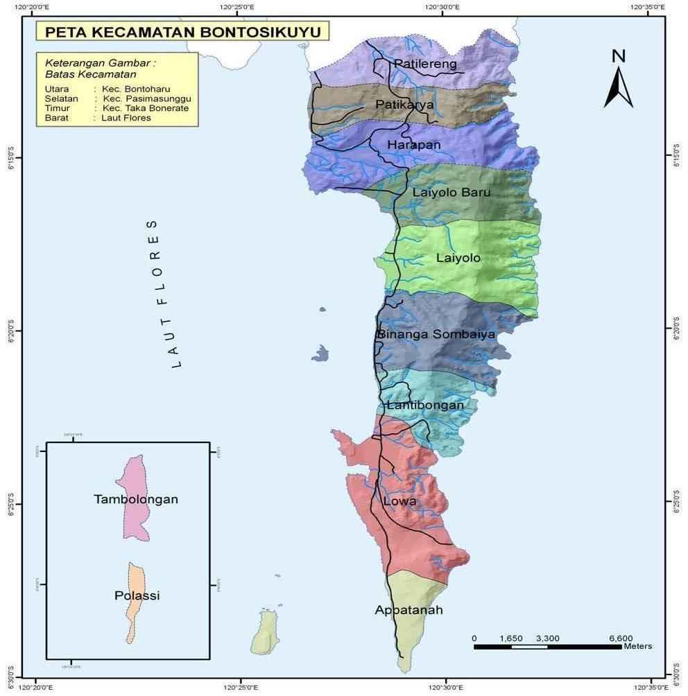 Awal's Info: Peta Kecamatan se-Kab. Kepulauan Selayar ...