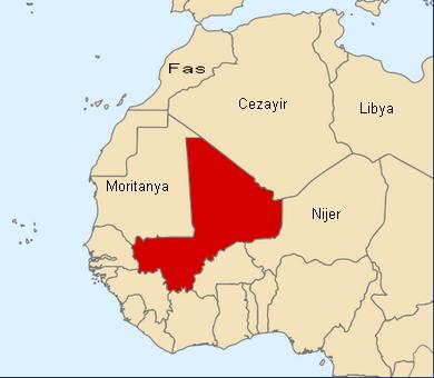 Mali harita. Mali haritalar. Afrika'da Mali devleti nerede.