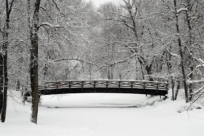 Cedarburg Wisconsin Bridge with snow in winter by Selep Imaging