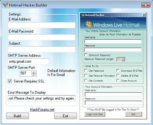 how to hack hotmail accounts for free