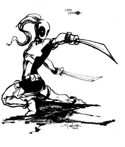 The Temple of Cartoon Mojo: Lady Deadpool Challenge