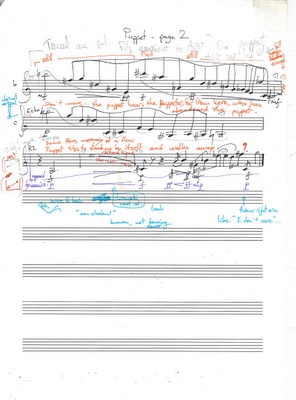 Puppet clarinet score page 2