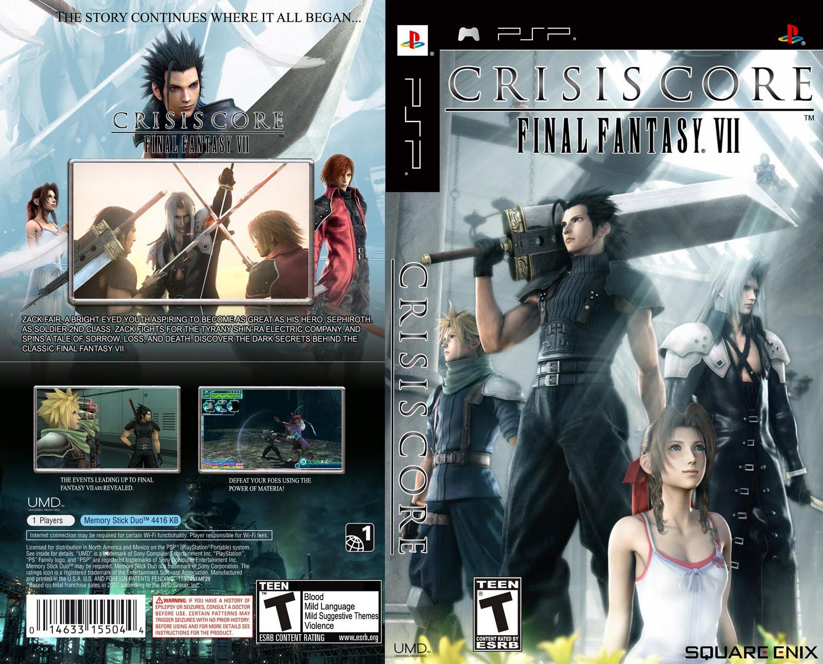 Crisis core final fantasy vii usa   welcome hacking free & games.