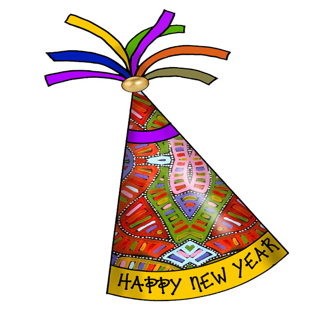 Artbyjean - Paper Crafts Happy Year Party Hats