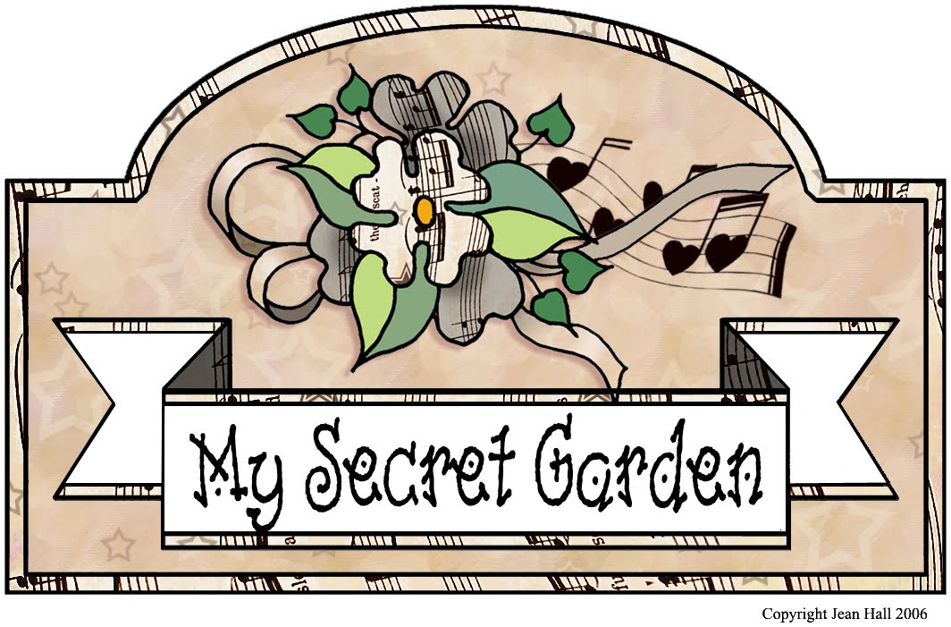 """My Secret Garden: Vintage Sheet Music: """"My Secret Garden"""