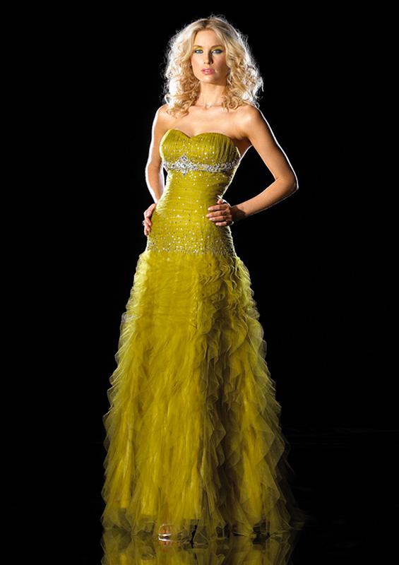 b3a09d28b7d63 Sarı straplez taşlı uzun nişan elbisesi. straplez kabarık etekli dekolteli  abiye elbise.