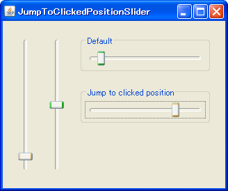 Java Swing Tips: Jump to clicked position JSlider