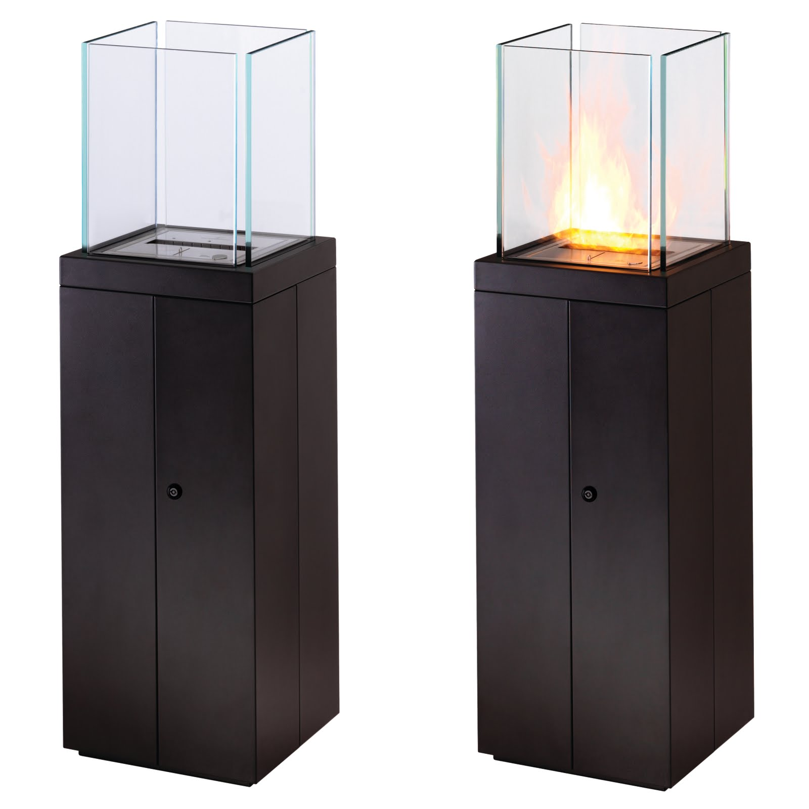 Tr123 Modern Outdoor Non Gas Tower Fireplace From Ecosmart