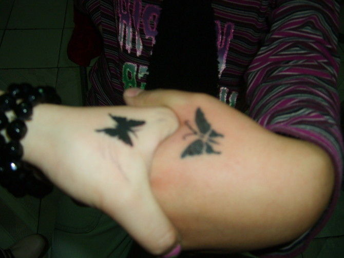 A butterfly tattoo is very versatile. A black and white butterfly will have