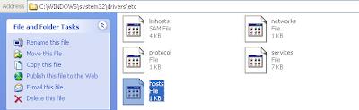 hosts file xp