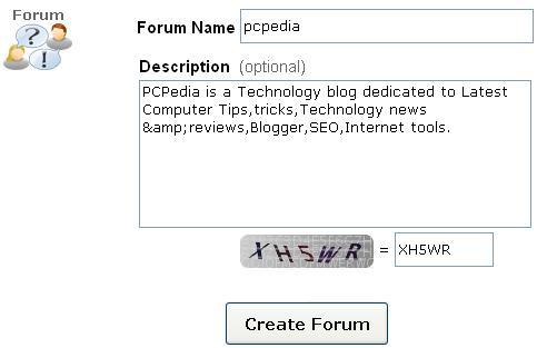 forum name and description