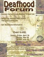 Deafhood Forum Poster