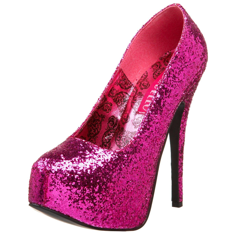 Glitter platform heels ^w^ | Hot pink | Pinterest