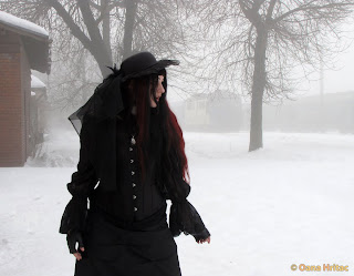 goth girl winter model