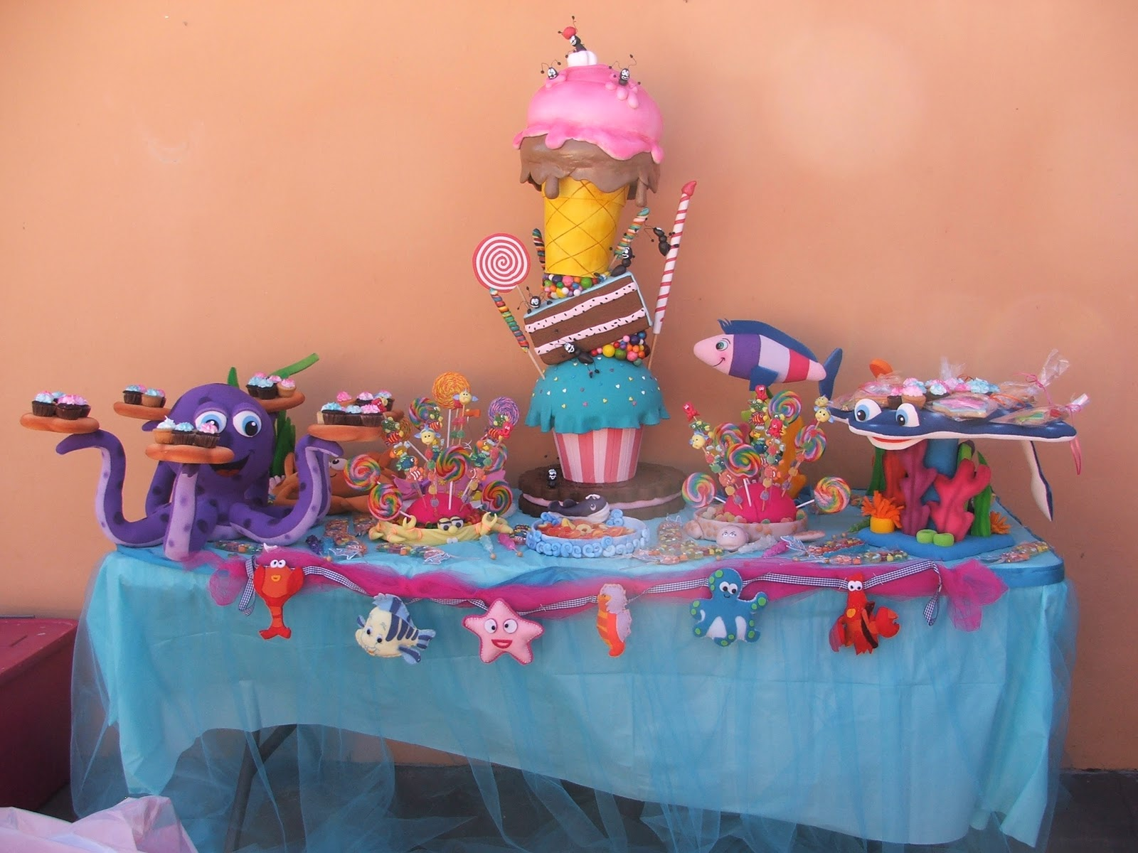 Little Mermaid Candy Table Decorations Marvelous Interior Images