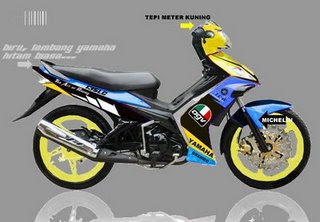 Yamaha LC 135 AirBrush Pictures Collection  Foto Gambar