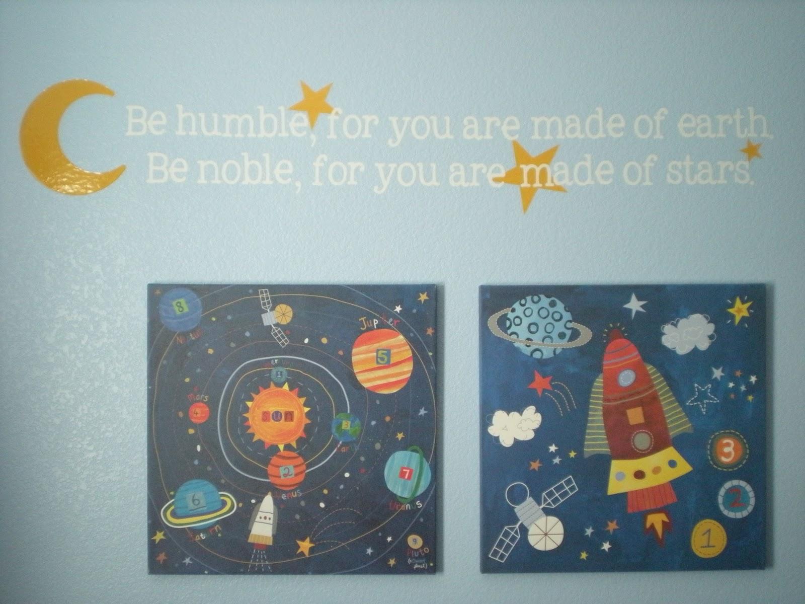 Words And Wisdom Custom Vinyl Lettering Boy S Room Decor Vinyl Rocket Ships Amp Space