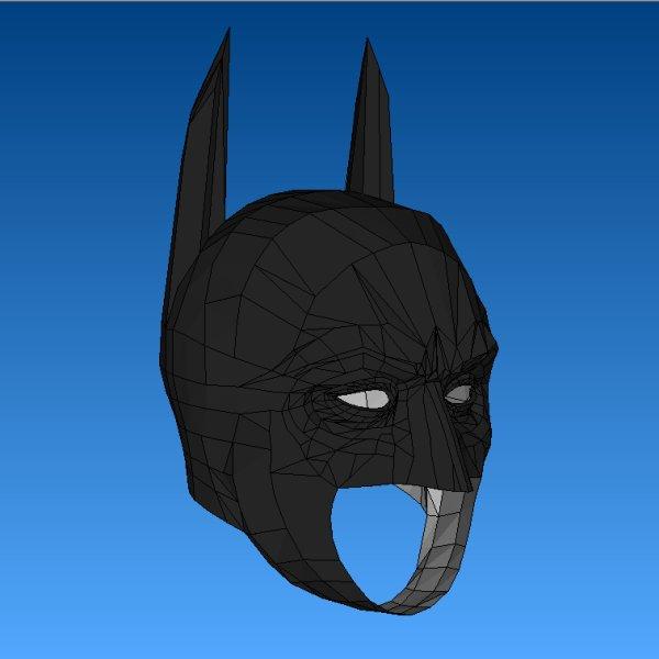 batman papercraft dark knight cowl tektonten papercraft