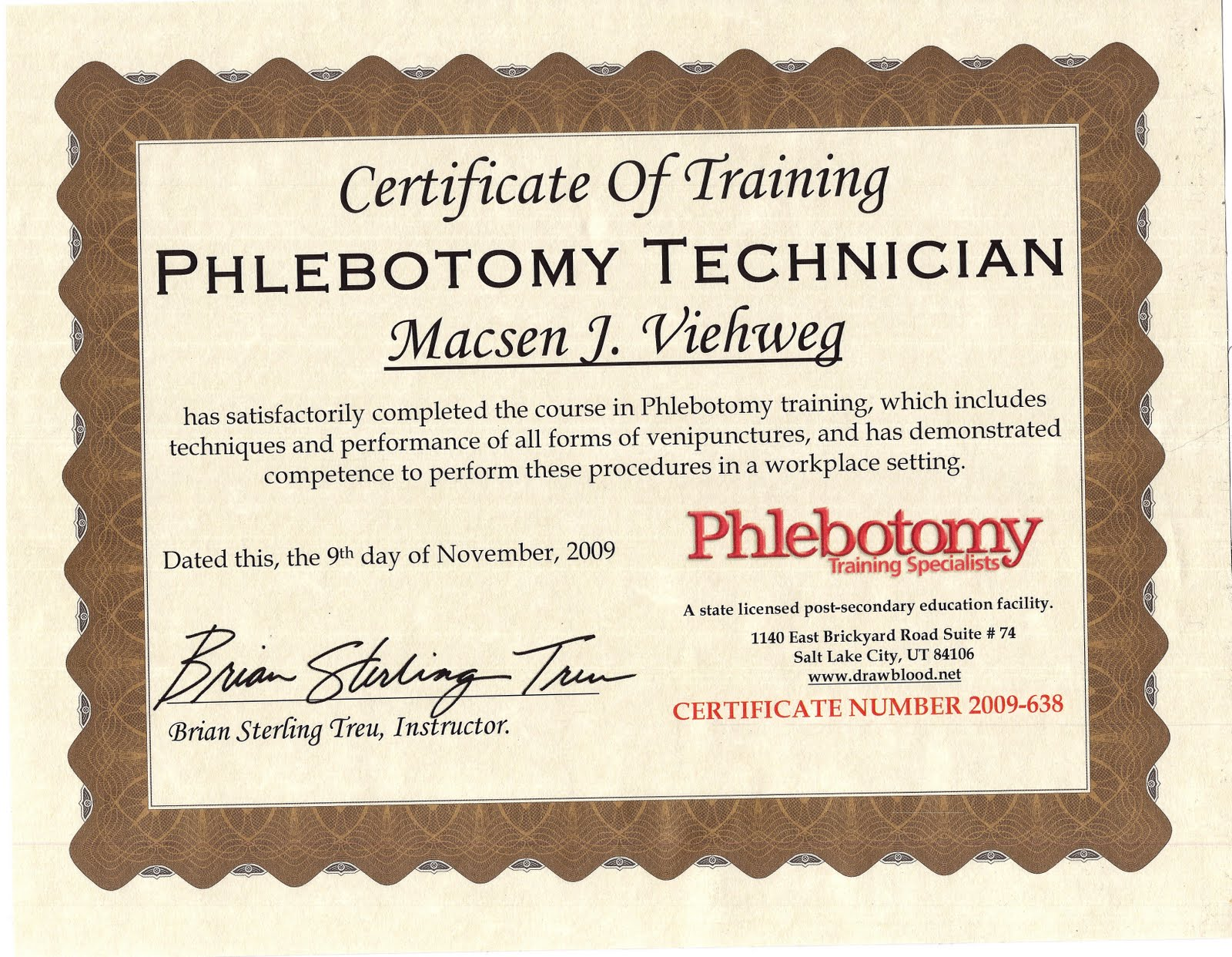 Phlebotomy Certification In The U S Certification