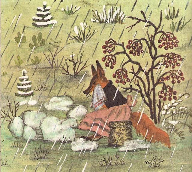 fairy tale Vasnetsov The Fox and the Hare