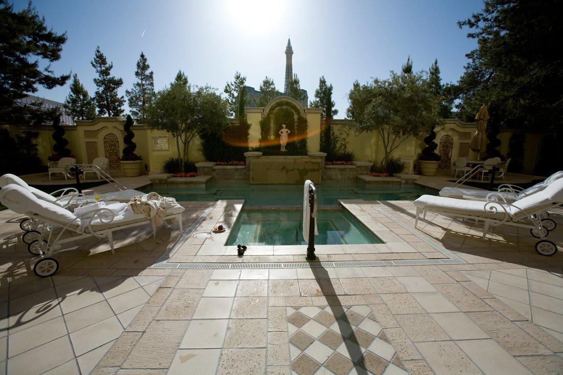 Bellagio las vegas villa courtyard pool weddings