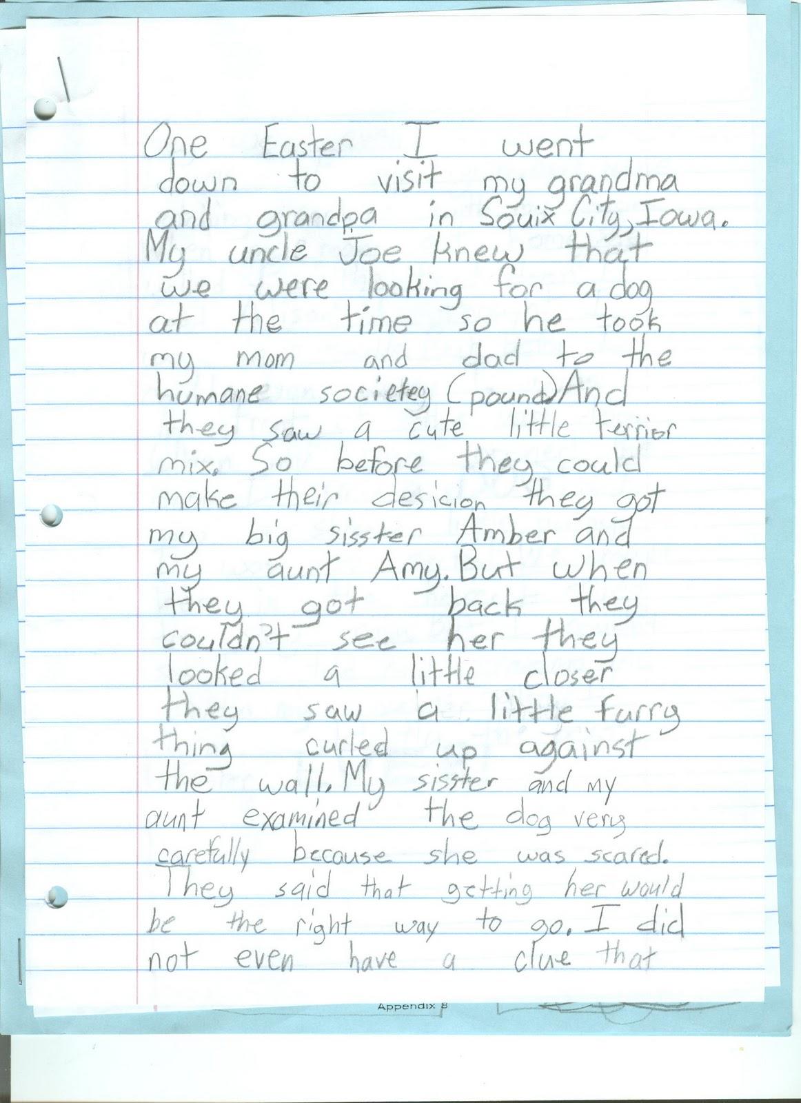 Sample Writing Rubrics For 3rd Grade