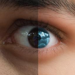 Creepy eye split screen