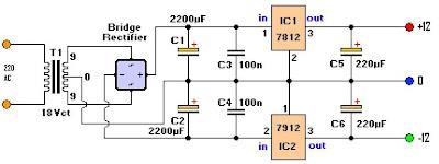Rangkaian Power Supply Sederhana Rangkaian Adaptor Volt Rangkaian