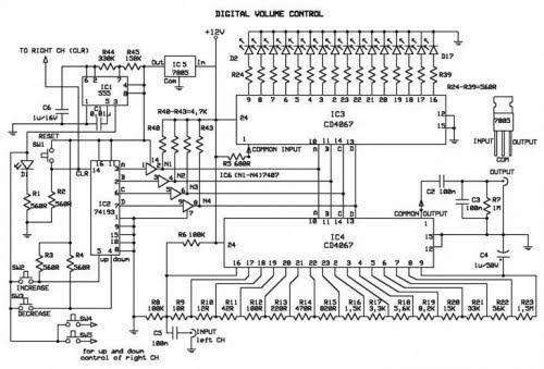 Volume Control Circuit Electronic Circuits And Diagramelectronics