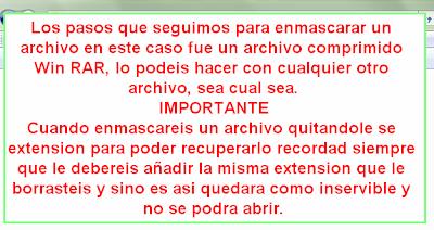Ocultar archivos