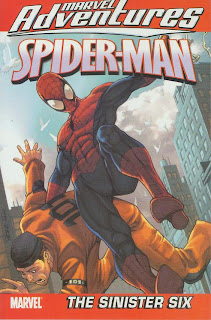Review Marvel Adventures Spider-Man Volume One The Sinister Six Kitty Fross Erica David Jeff Parker Patrick Sherberger Marvel Cover trade paperback tpb comic book