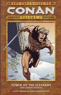 Review The Chronicles of Conan Volume One Tower of the Elephant Roy Thomas Barry Windsor-Smith Conan the Barbarian Marvel Dark Horse trade paperback tpb comic book