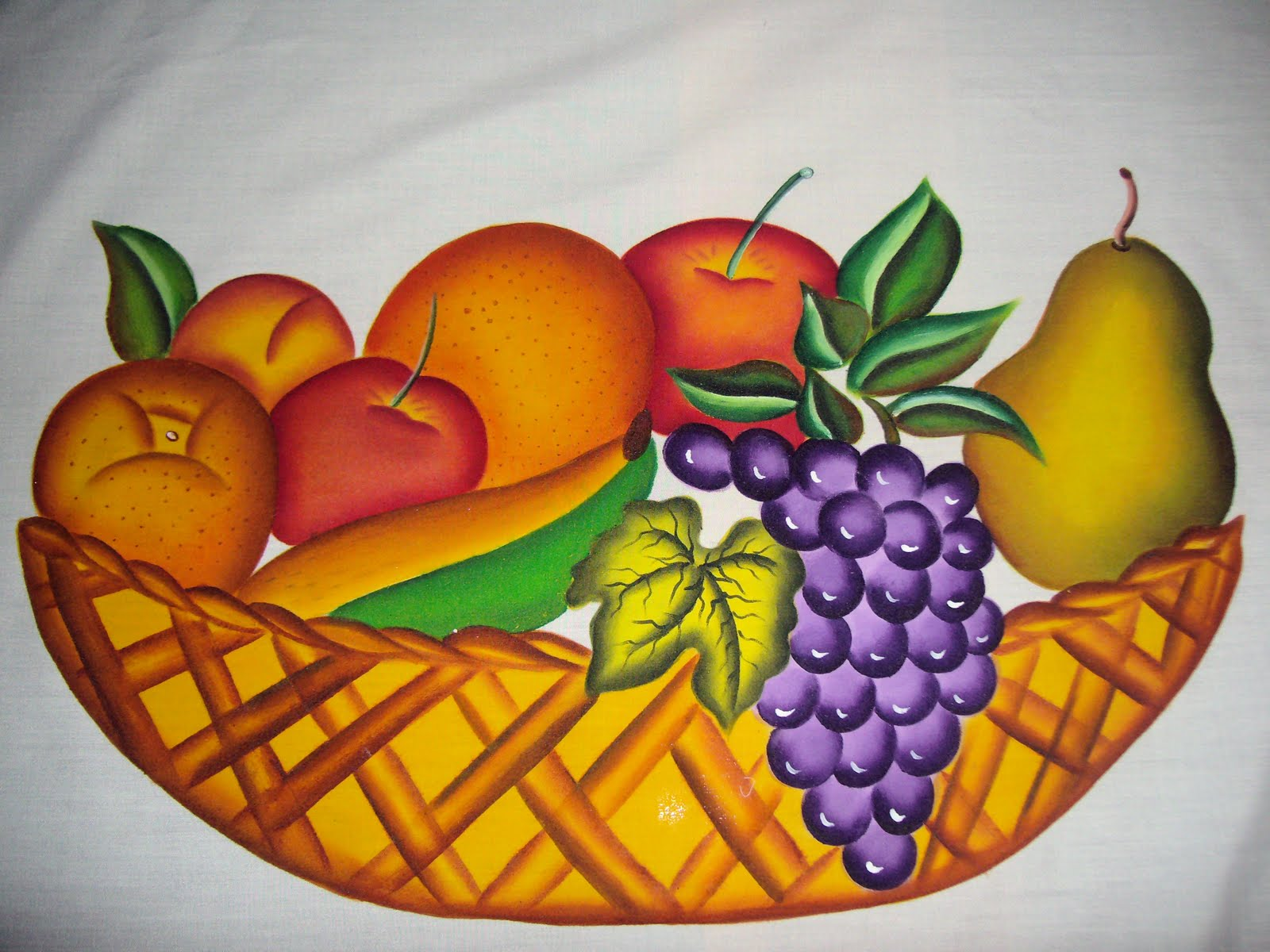 Arte en tela mantel de frutas para mesa redonda - Como hacer una manteleria ...