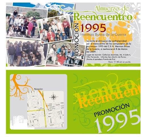 Promoción 5 B Lo Mejor Invitación A Los Compañeros