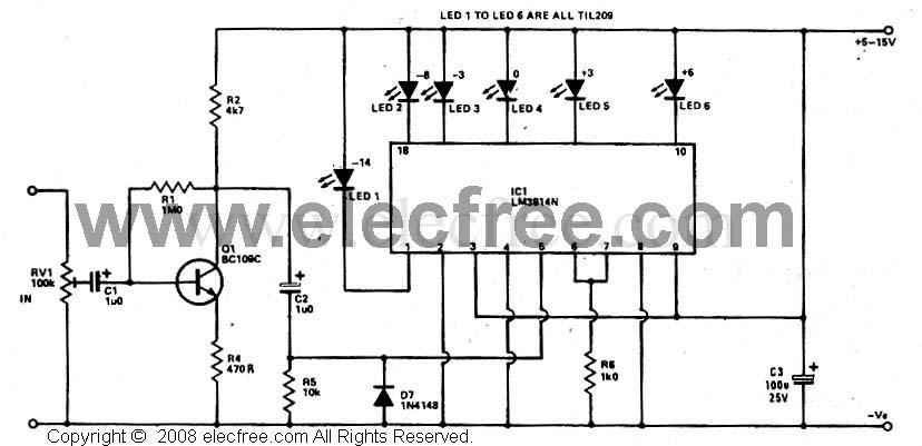 elektronika itu tanpa batas    led vu meter by ic lm3914
