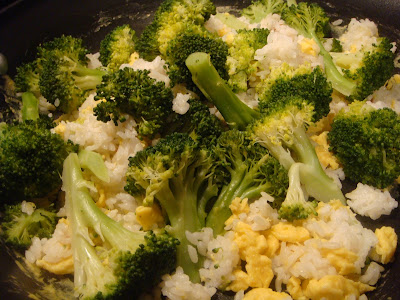 broccoli and egg-fried rice