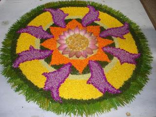 Onam Festival Athapookalam Design
